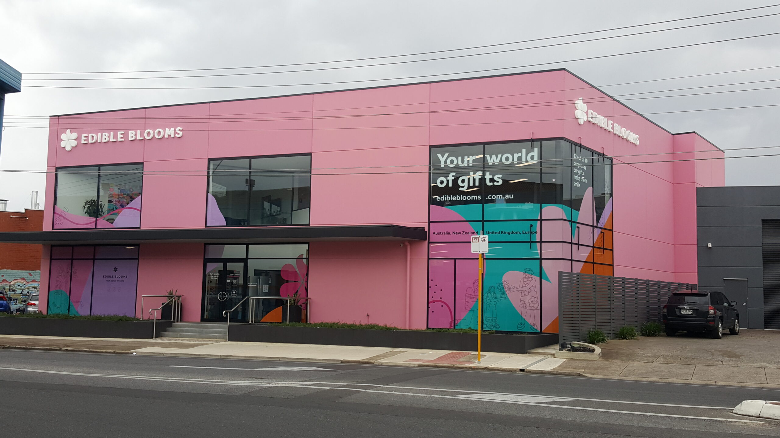 custom building signs on streetscape Adelaide