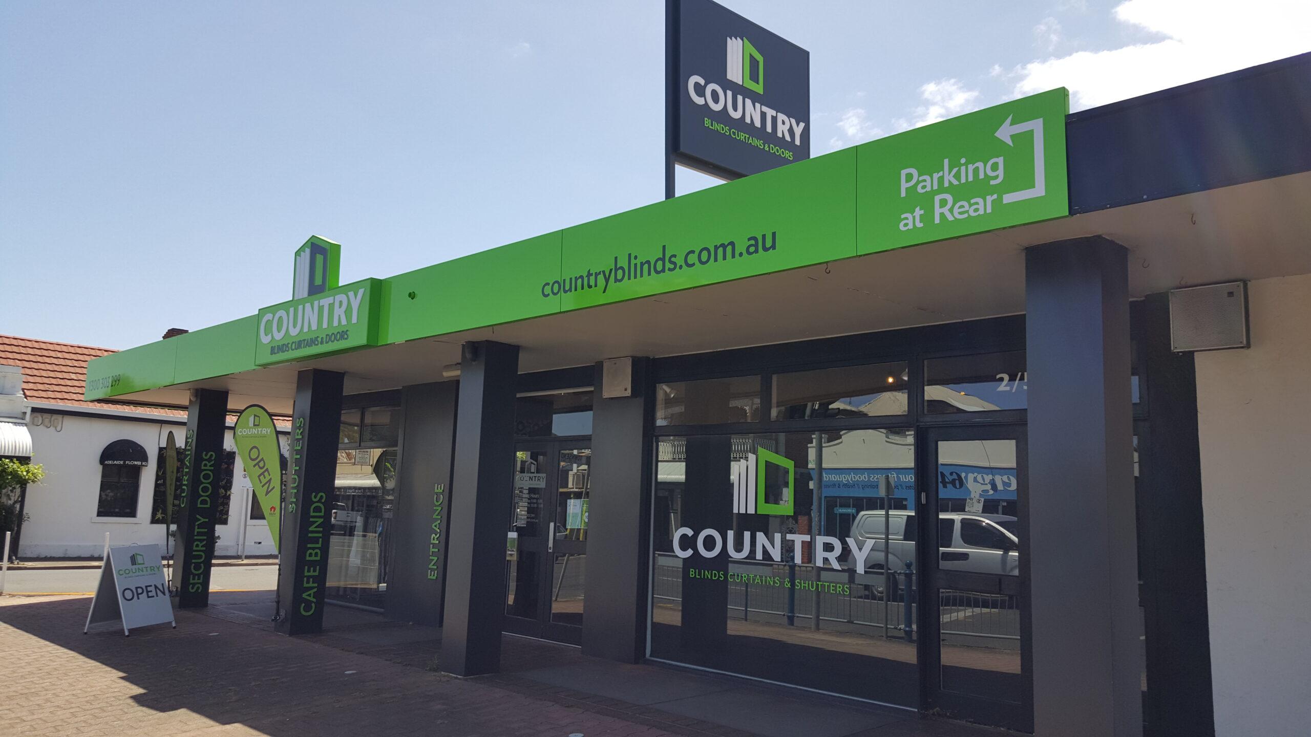 custom shopfront metal printed fascia signs Adelaide