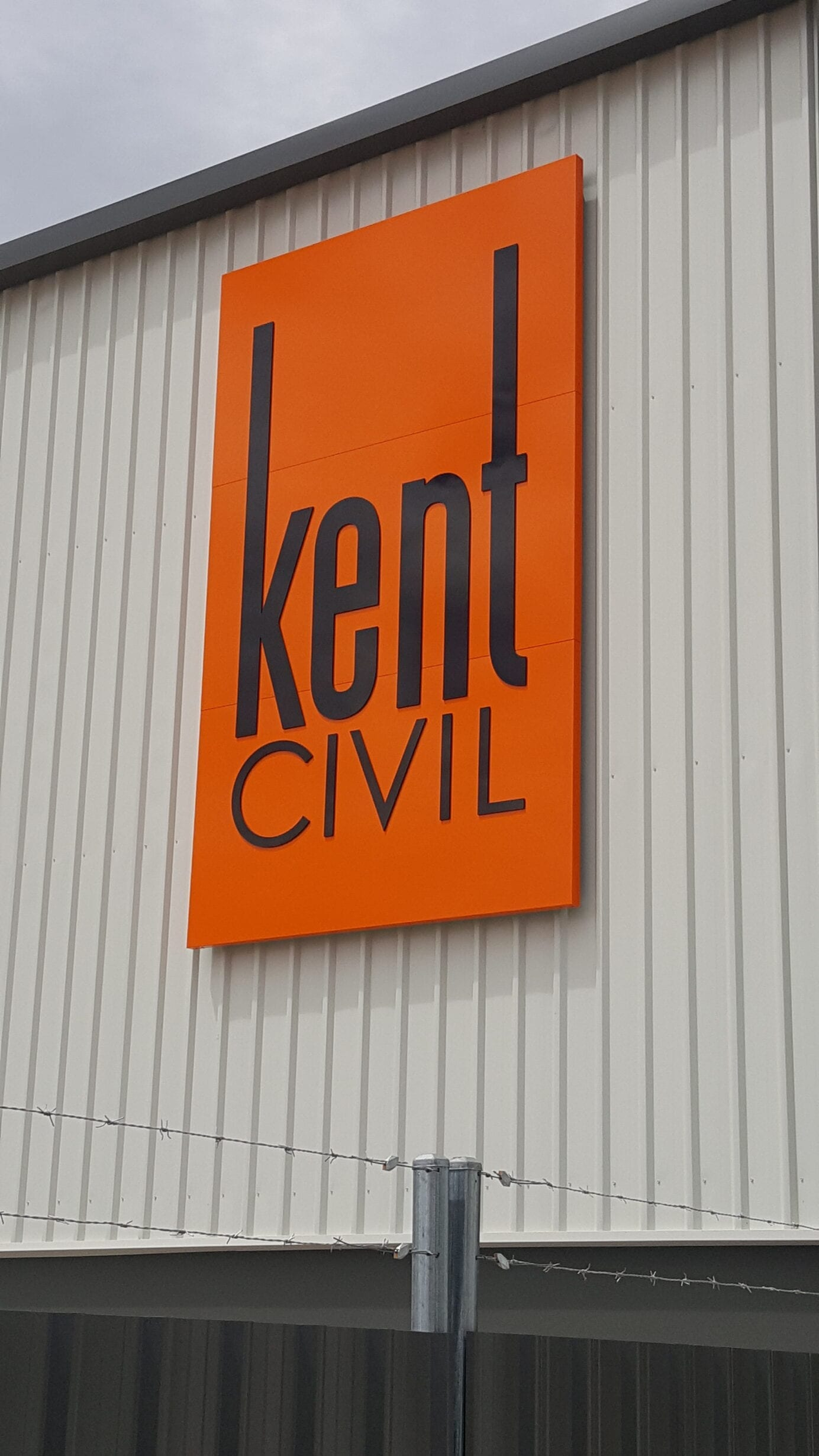 custom fabricated external business sign Adelaide