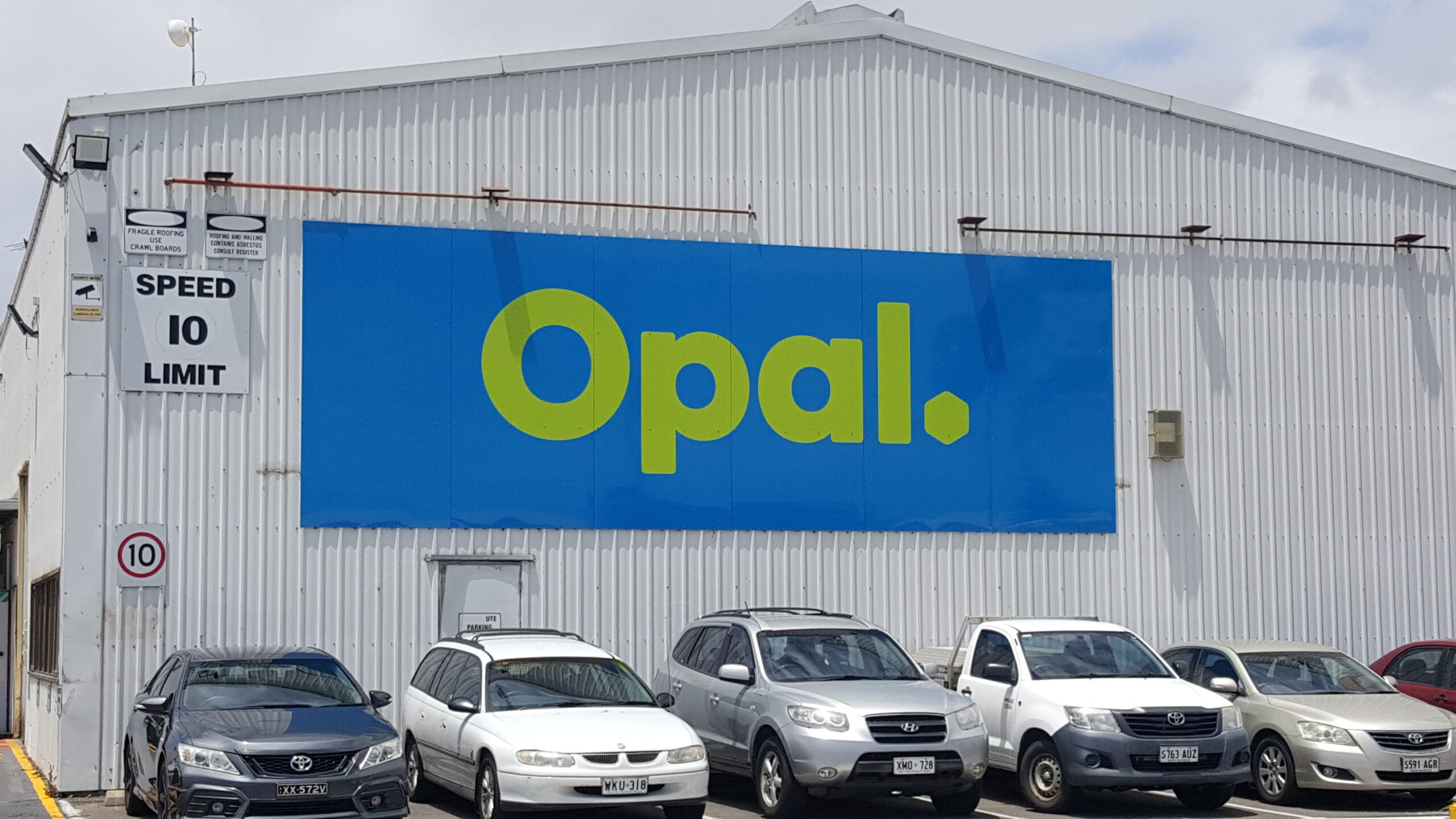 large fabricated building sign Adelaide
