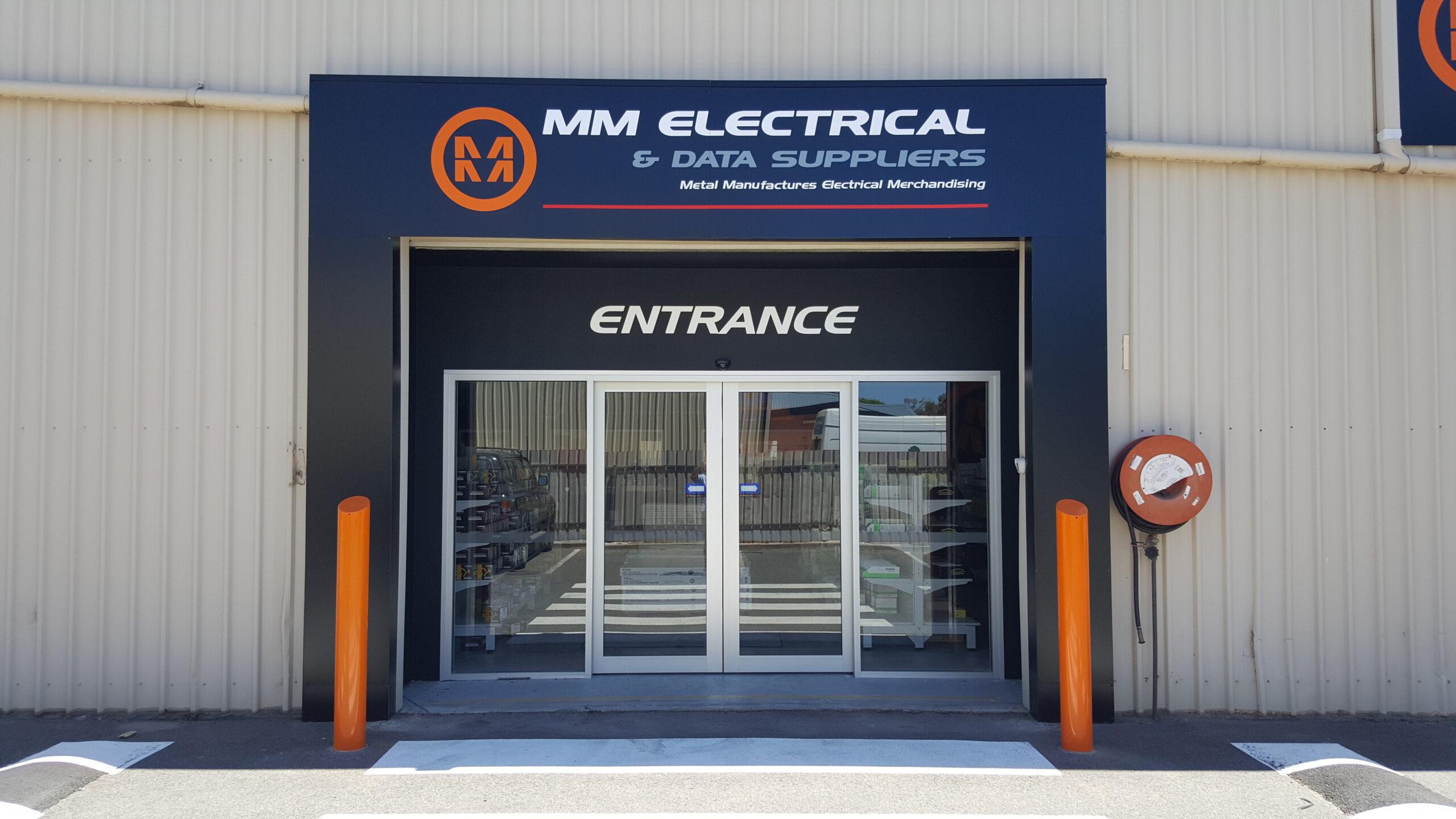 custom printed metal fascia sign at business entrance Adelaide