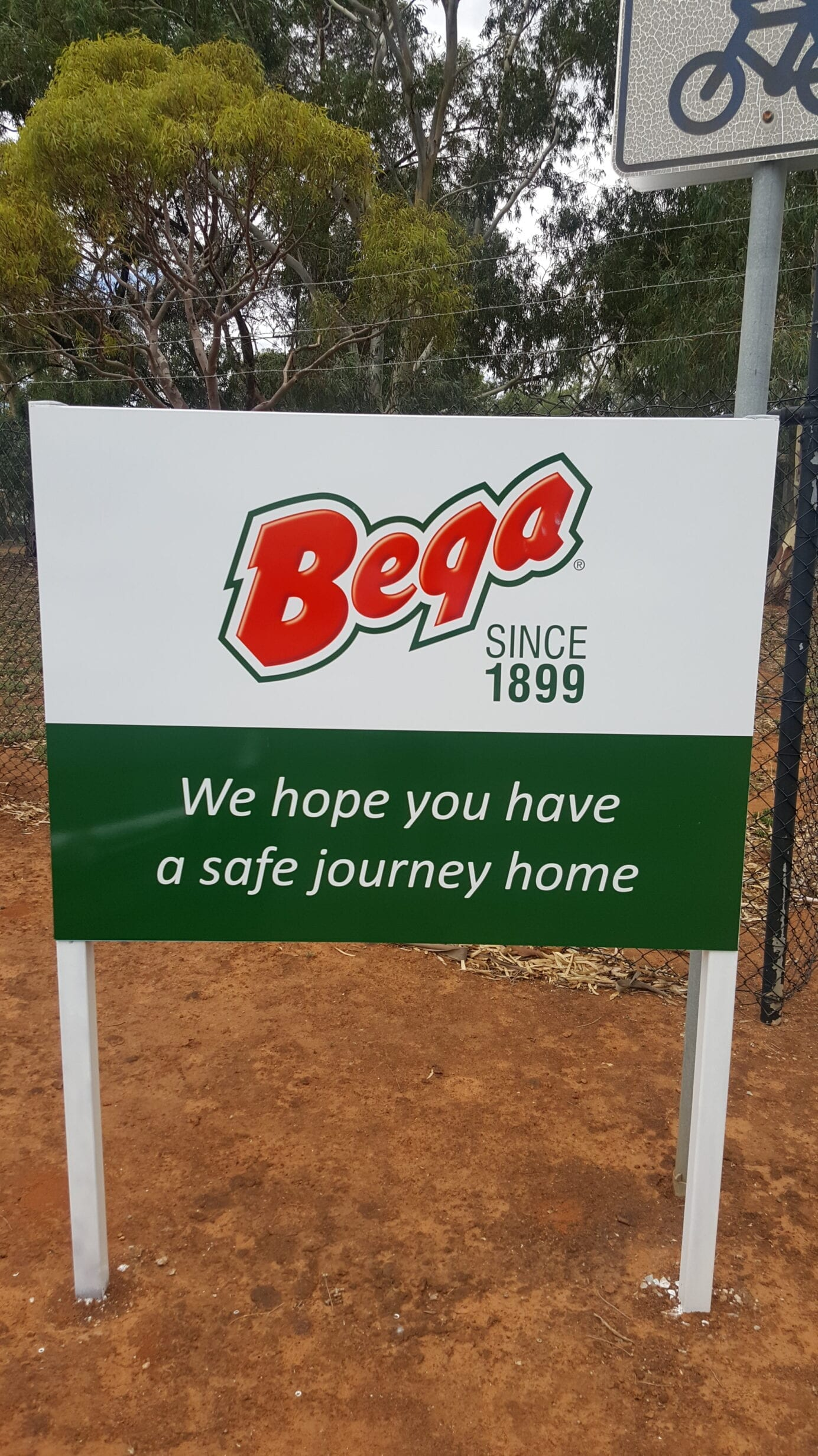 custom printed metal safety sign at business exit Adelaide