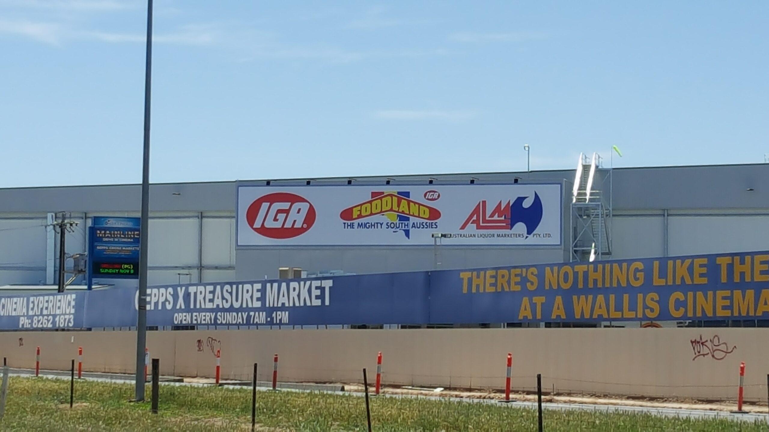 custom fascia sign on outside of warehouse in Adelaide