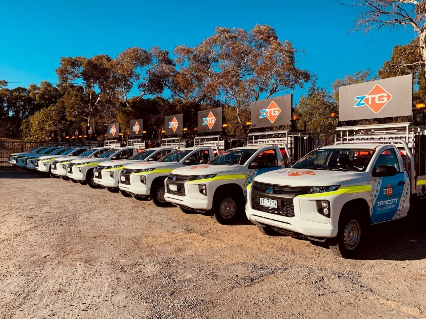 custom vehicle graphics on new company fleet