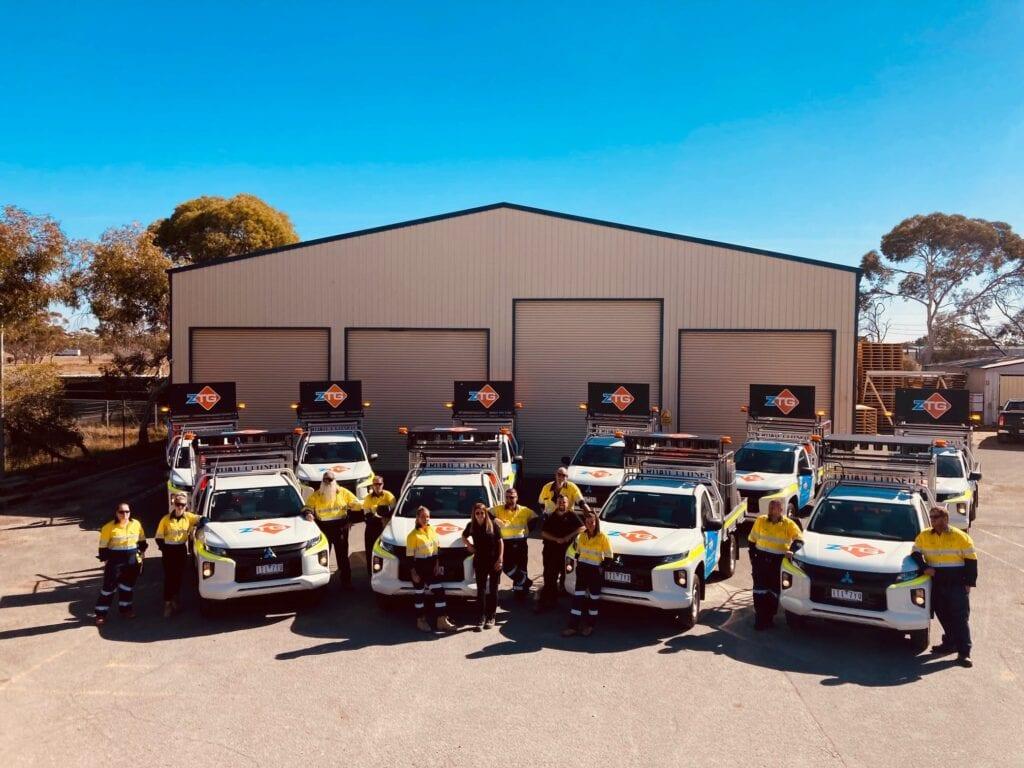 fleet vehicle graphics at Zancott Traffic Group