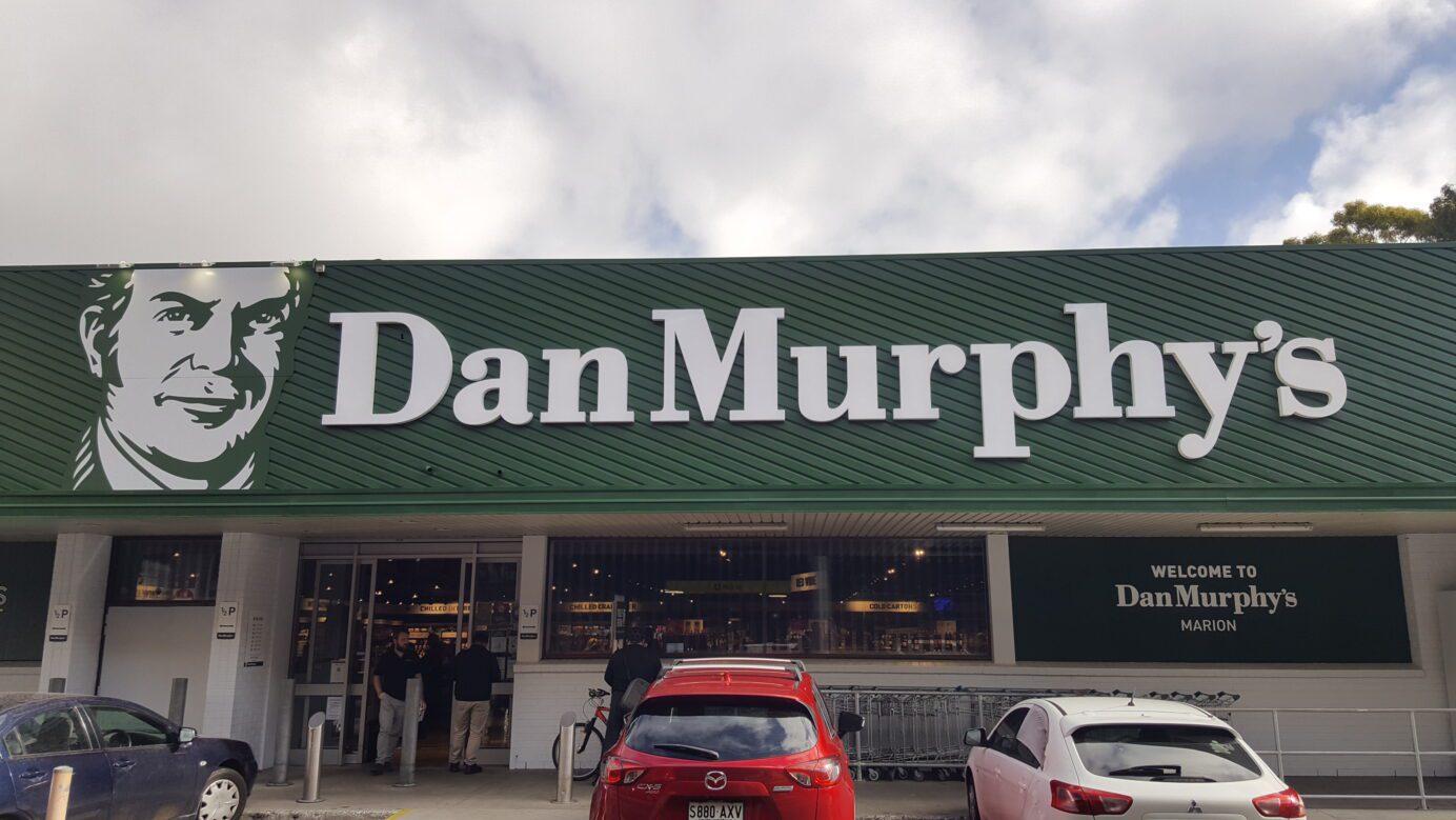 external 3D lettering sign at Dan Murphy's