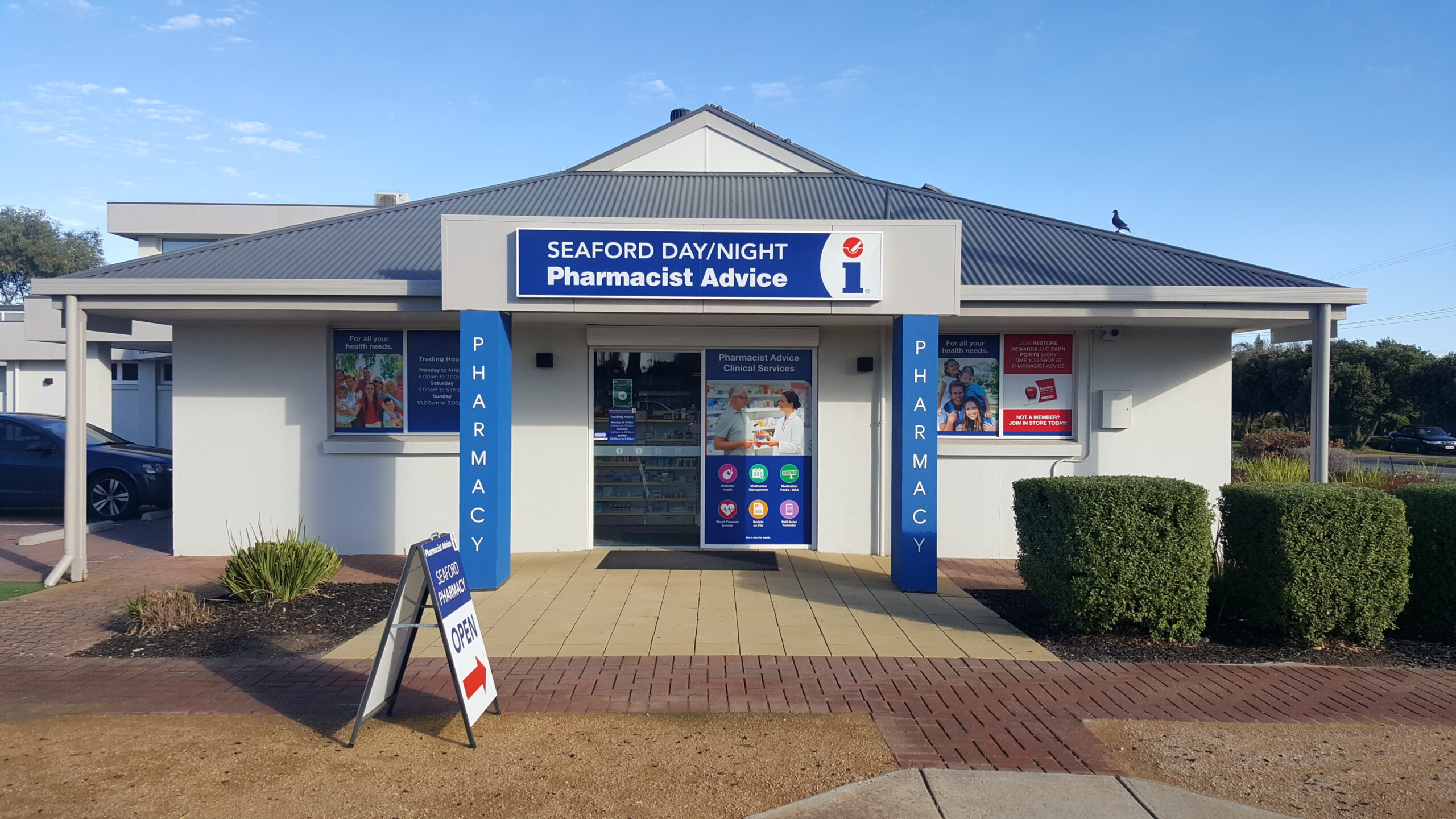 """Featured image for """"Pharmacist Advice uses new shopfront and in-store signage to confirm its commitment to the local community's well-being."""""""