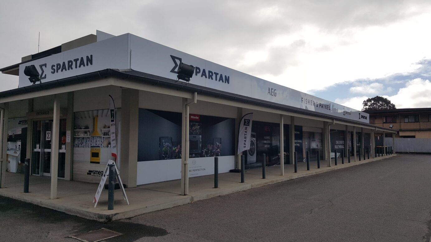 new business signs at Spartan Electrical