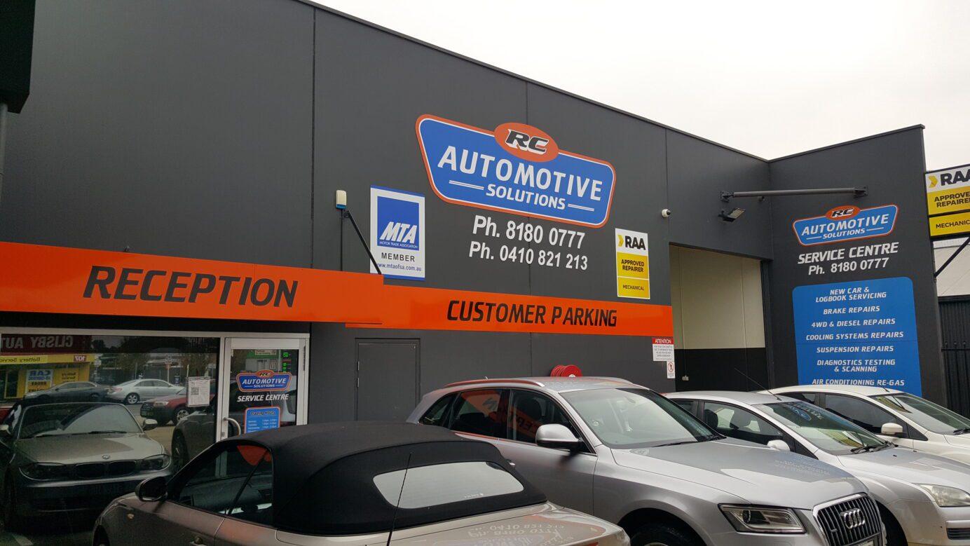 fascia signs at RC Automotive