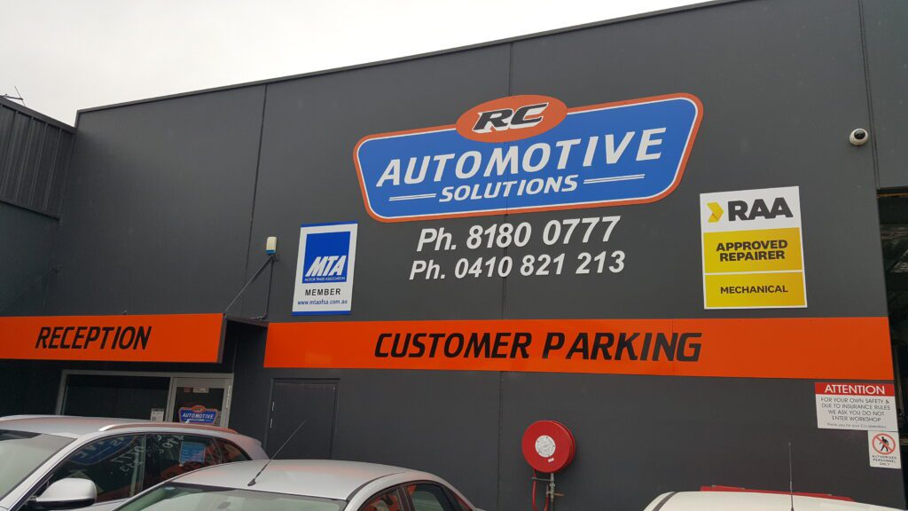 printed metal signs at RC Automotive